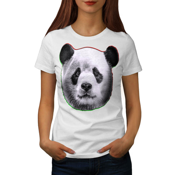 Cracked Wood Panda Womens T-Shirt