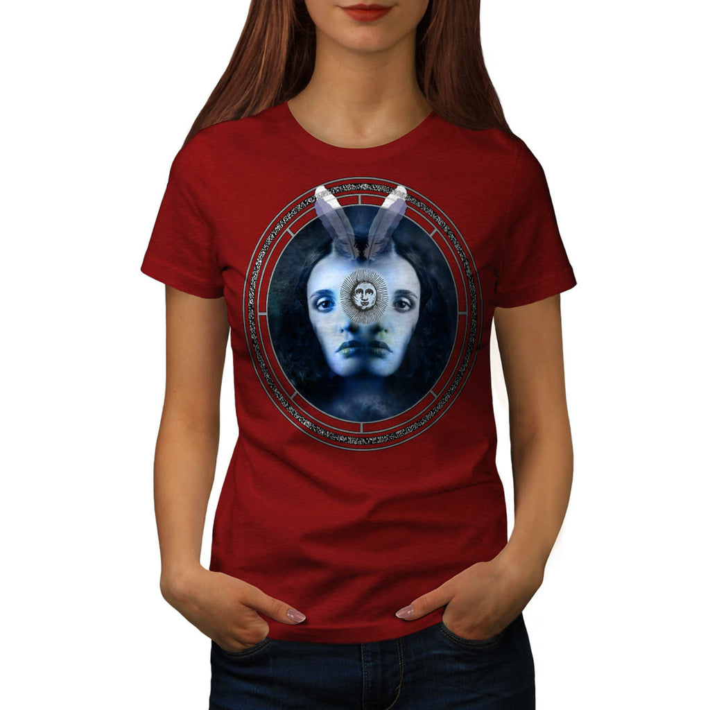Two Face Lady Mirror Womens T-Shirt