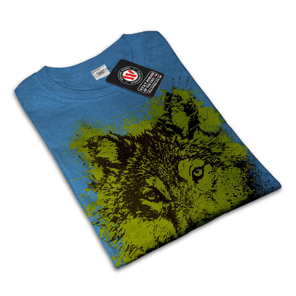 Paint Splash Wolf Womens T-Shirt