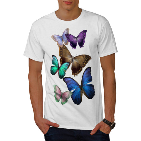 Butterfly Multicolor Mens T-Shirt