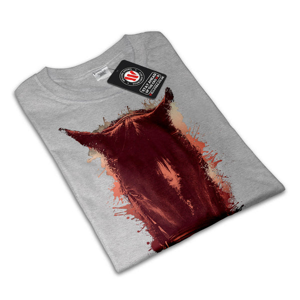 Paint Splash Horse Womens T-Shirt