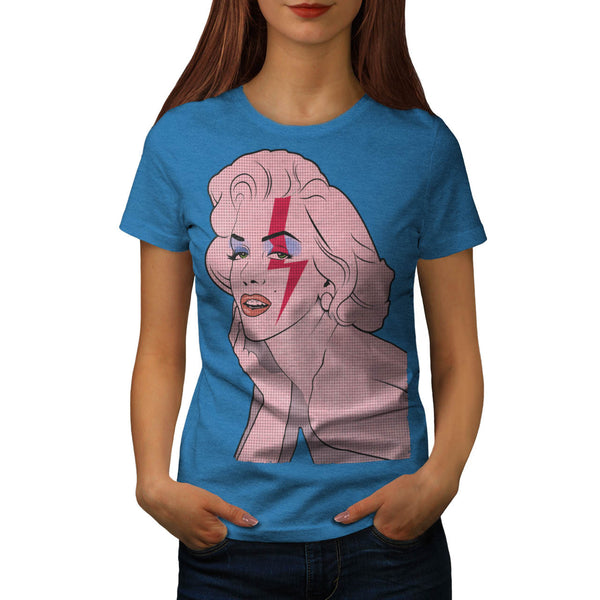 Monroe Becomes Bowie Womens T-Shirt