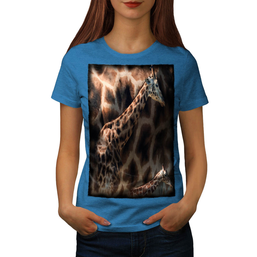 Long Giraffe Neck Womens T-Shirt