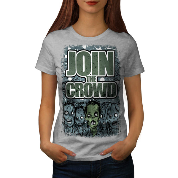 Zombie Monster Crowd Womens T-Shirt