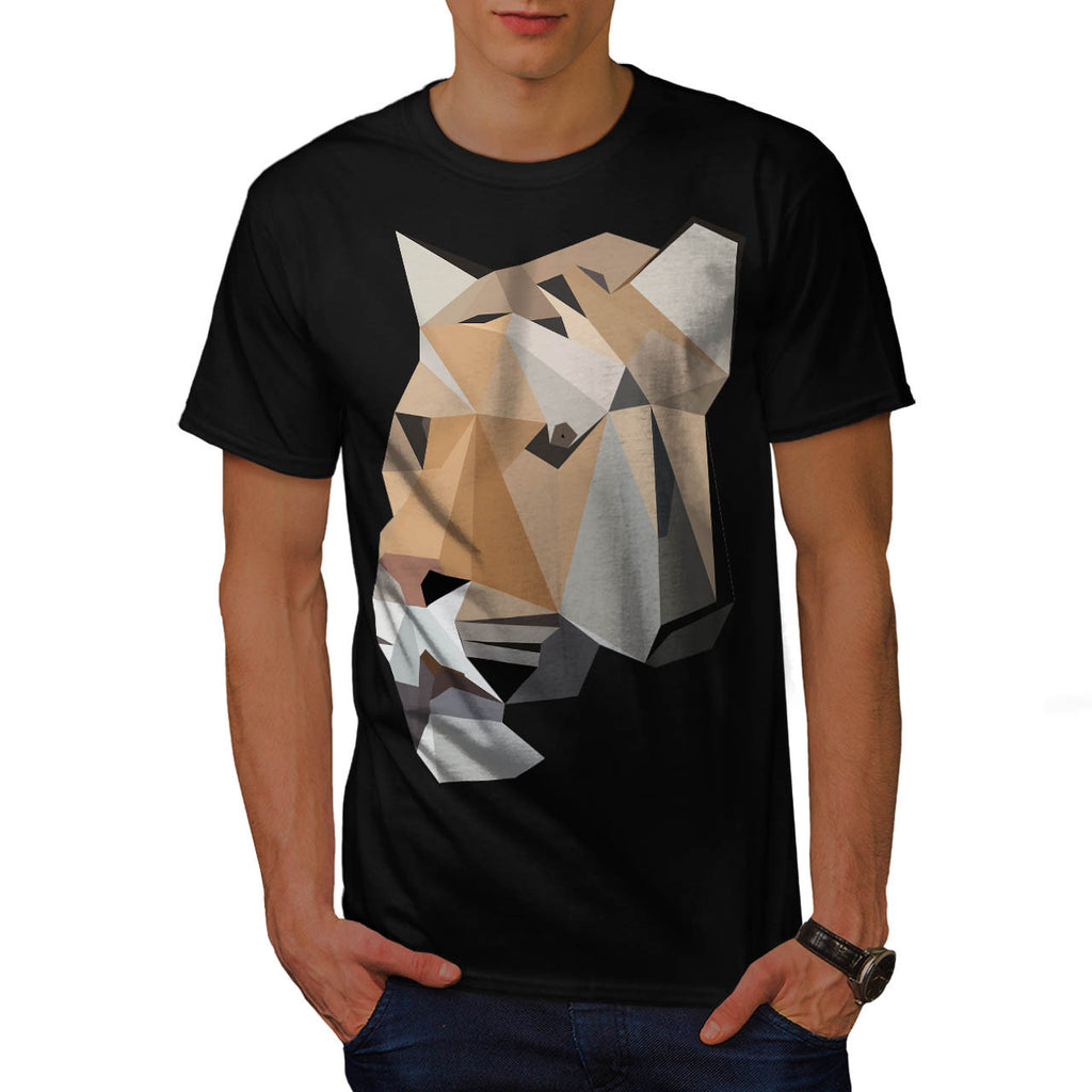 Beware Stripy Tiger Mens T-Shirt