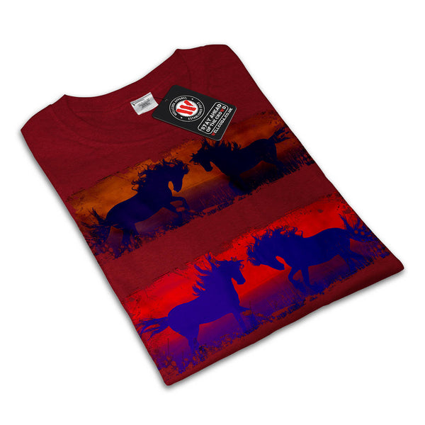 Wild Stallion Print Womens T-Shirt