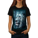 Mighty Lion Face Womens T-Shirt
