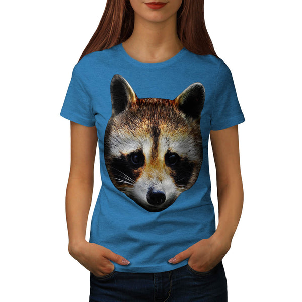 Cute Raccoon Face Womens T-Shirt