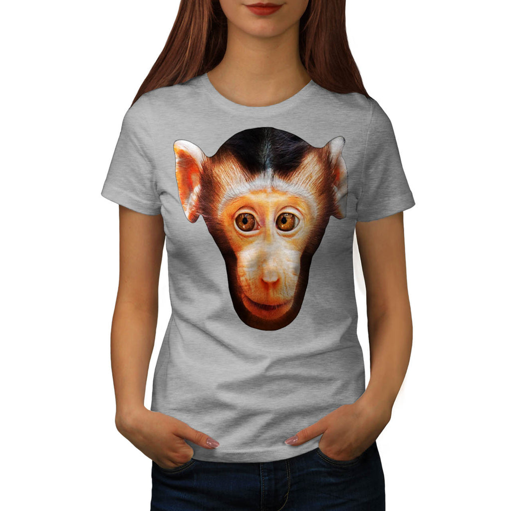 Interested Monkey Womens T-Shirt