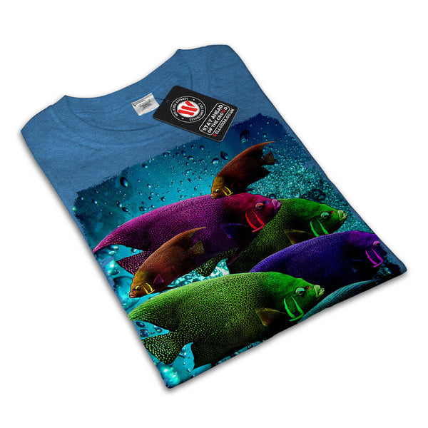 Flashy Colour Fish Womens T-Shirt
