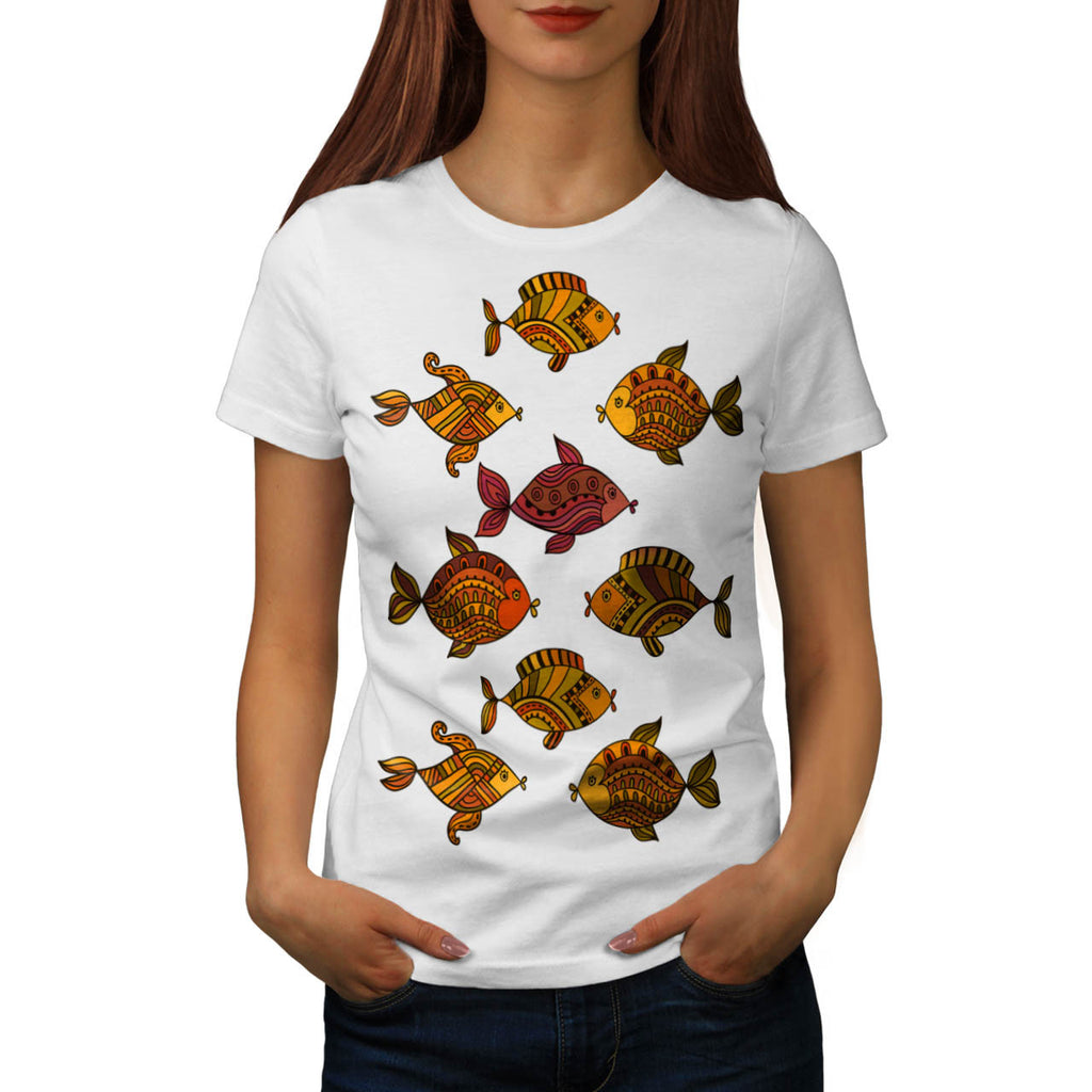 Ornament Fish Float Womens T-Shirt
