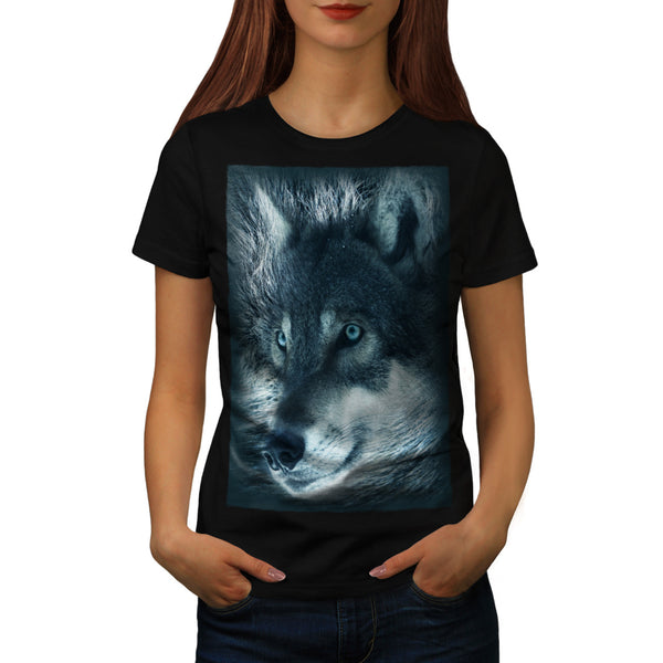 Lonely Wolf Stare Womens T-Shirt