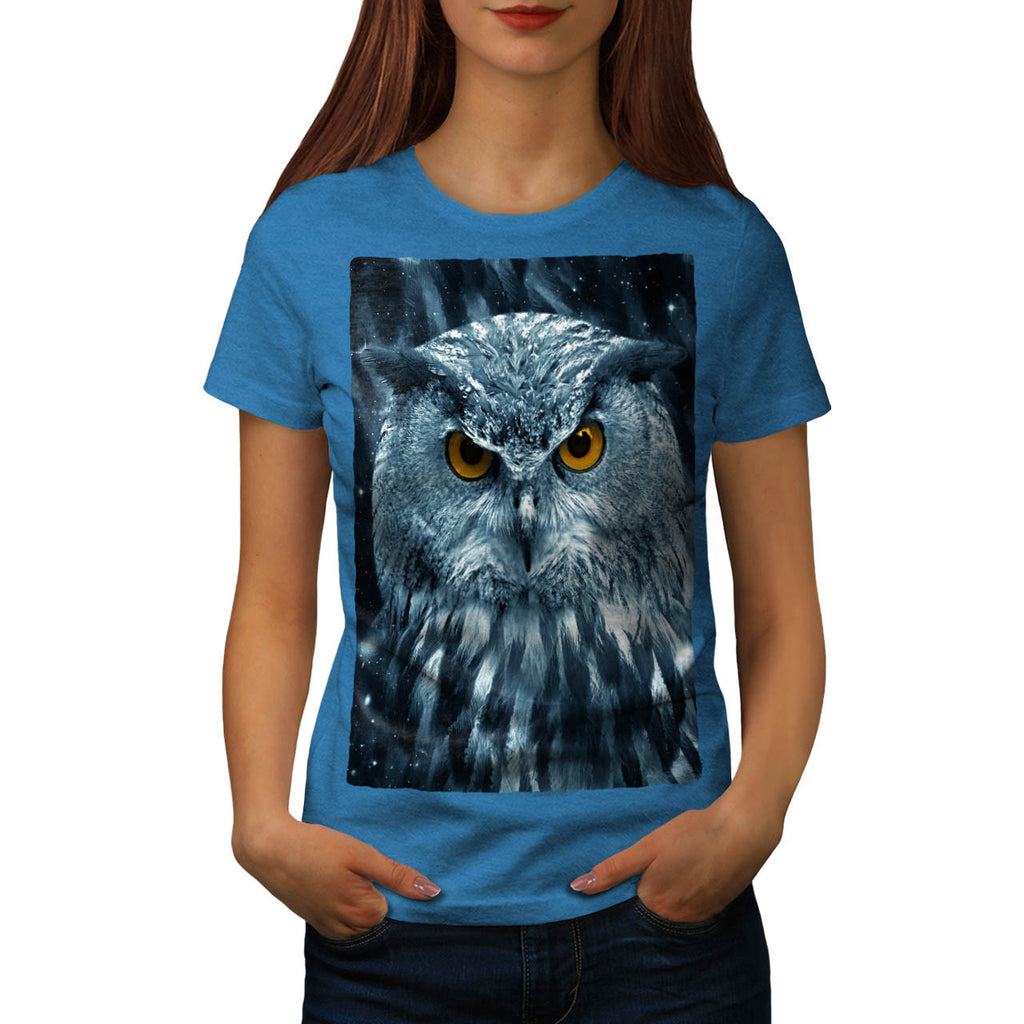 Wild Looking Owl Womens T-Shirt