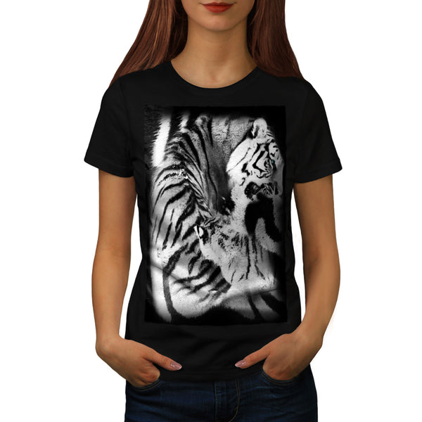 White Tiger Print Womens T-Shirt