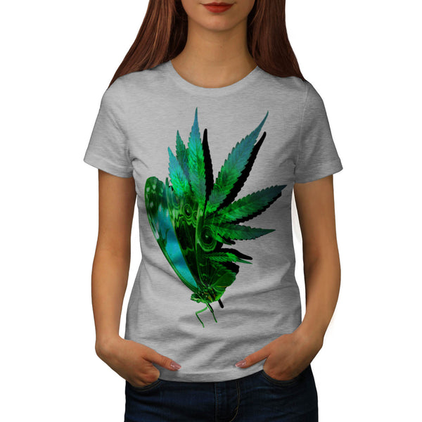 Marijuana Butterfly Womens T-Shirt