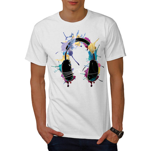 Headphone Music Dj Mens T-Shirt