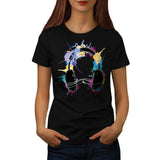 Headphone Music Dj Womens T-Shirt