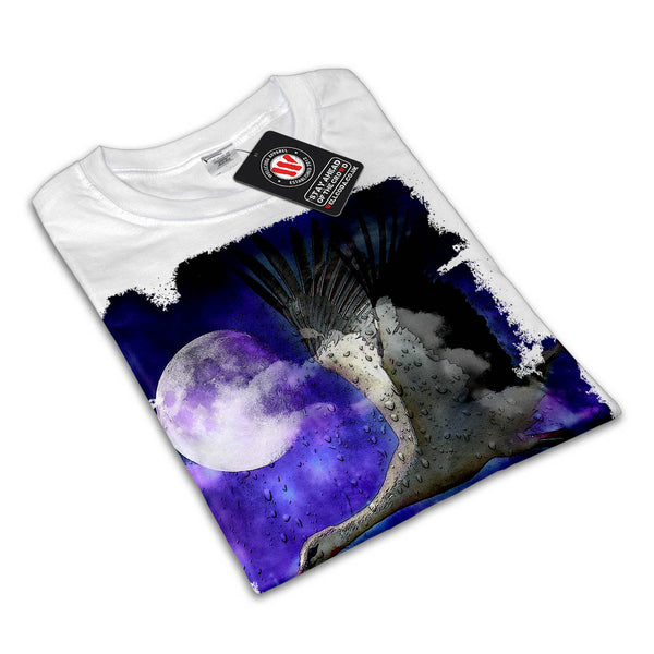 Moonlight Stork Fly Womens T-Shirt