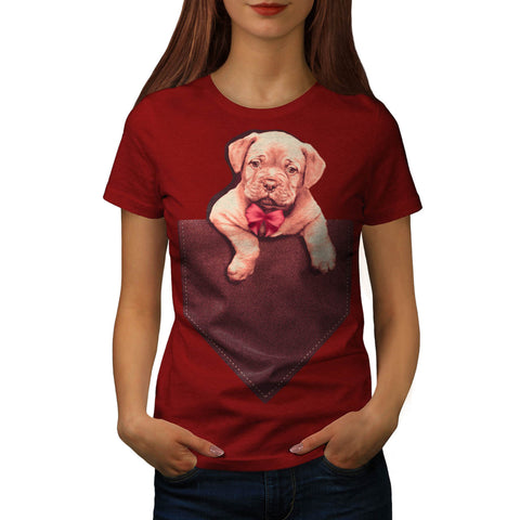 Pocket Puppy Funny Womens T-Shirt