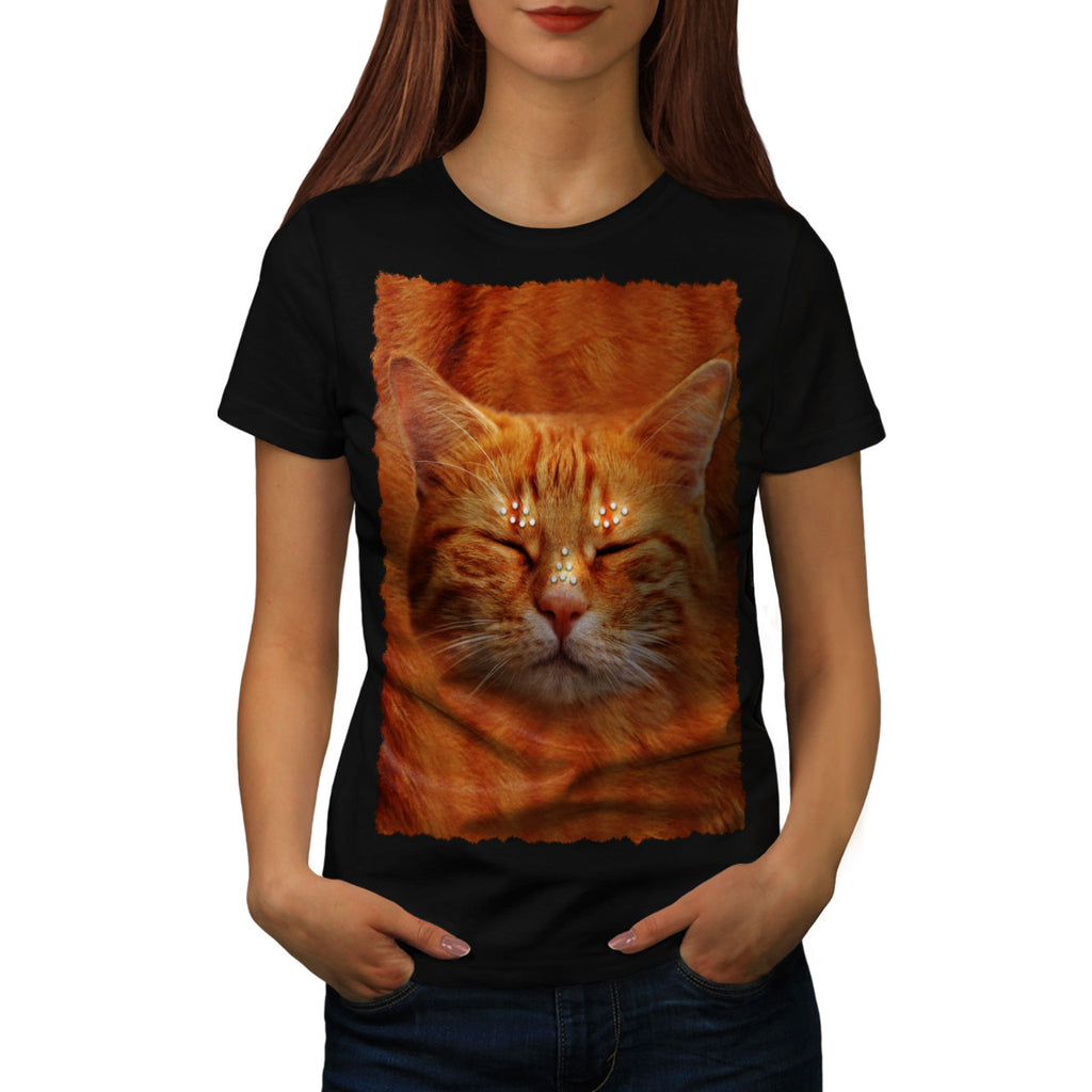 Happy Kitten Head Womens T-Shirt