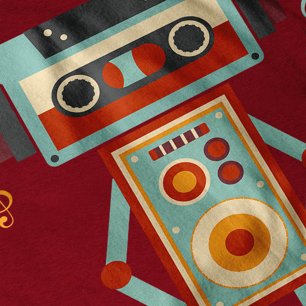 Robot Music Tape Dj Womens T-Shirt