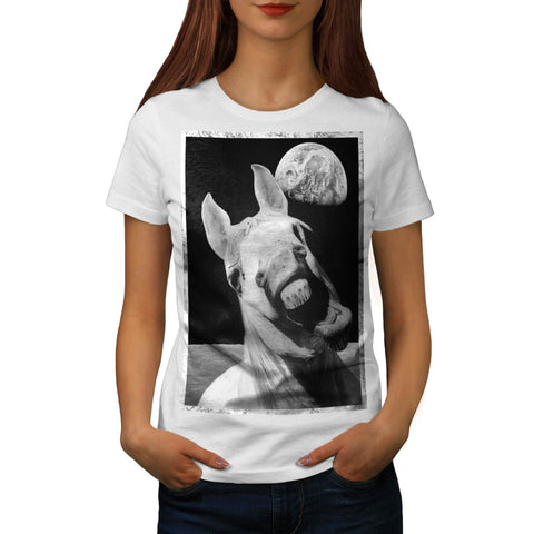 Crazy Space Horse Womens T-Shirt