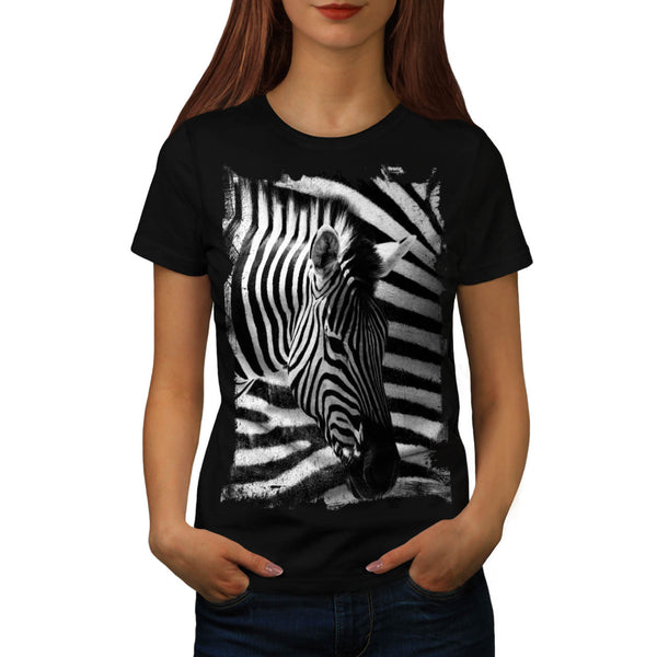 Safari Zebra Head Womens T-Shirt