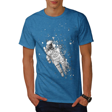 Space Music Galaxy Mens T-Shirt
