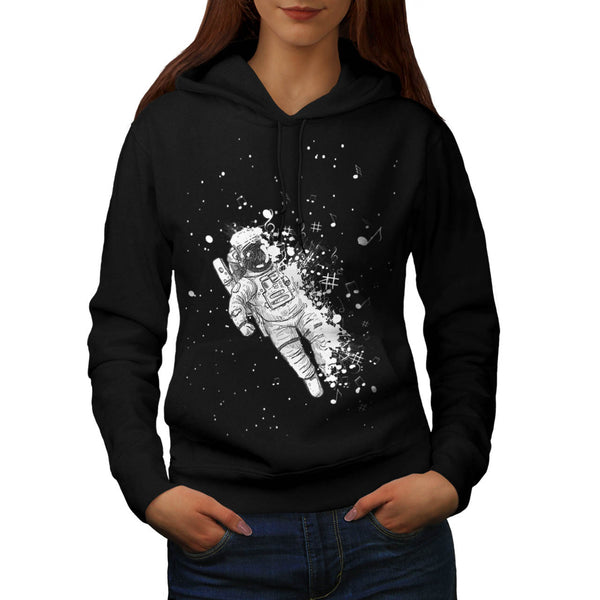 Space Music Galaxy Womens Hoodie