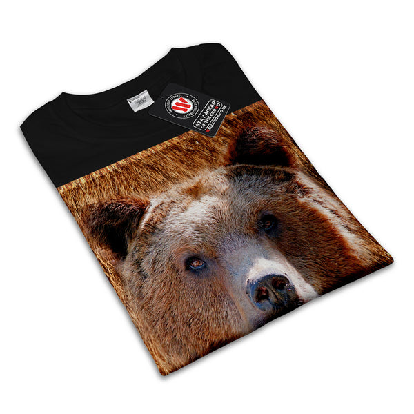 Grizzly Bear Face Womens T-Shirt