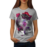 Red Flower Planet Womens T-Shirt
