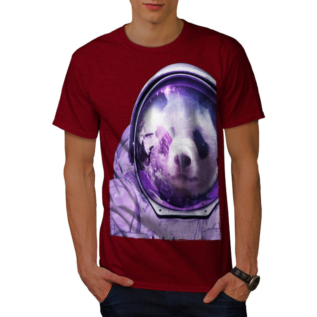 Astronaut Panda Bear Mens T-Shirt