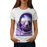 Astronaut Panda Bear Womens T-Shirt