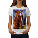 Horse Head Portrait Womens T-Shirt