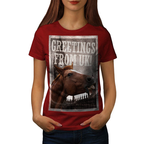 Greeting From UK Womens T-Shirt