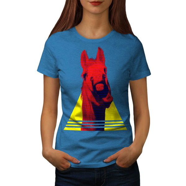 Horse Neigh Triangle Womens T-Shirt