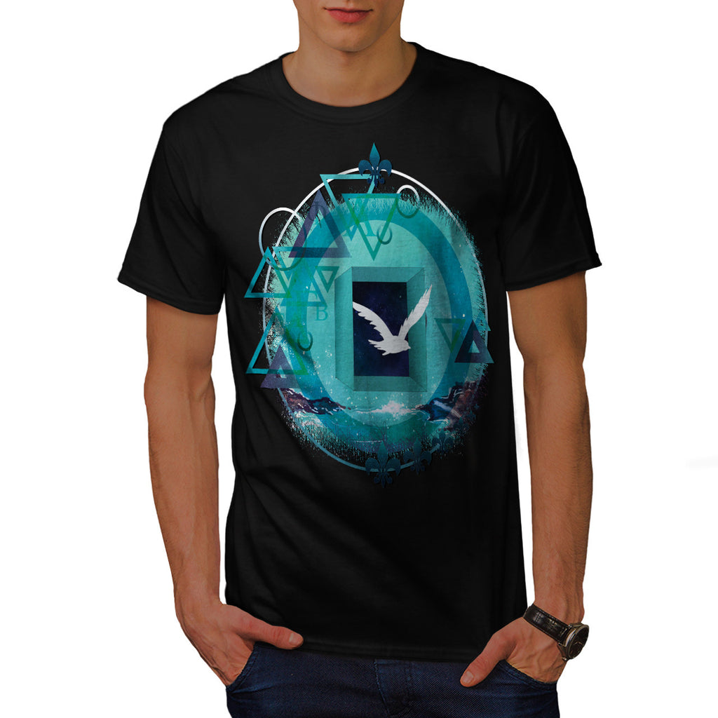 Freedom Galaxy Bird Mens T-Shirt