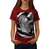 African Zebra Head Womens T-Shirt