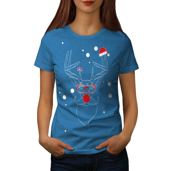 Deer Hipster Winter Womens T-Shirt