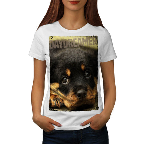 Daydreamer Dog Face Womens T-Shirt