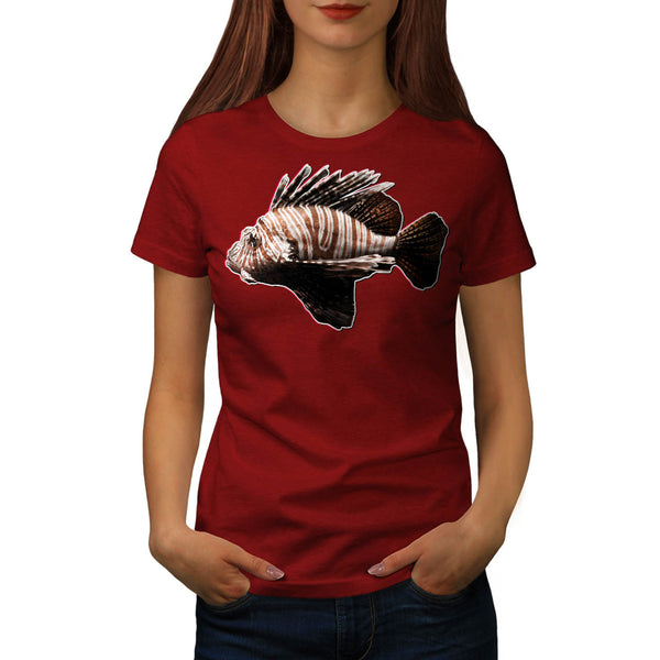 Simple Scorpion Fish Womens T-Shirt
