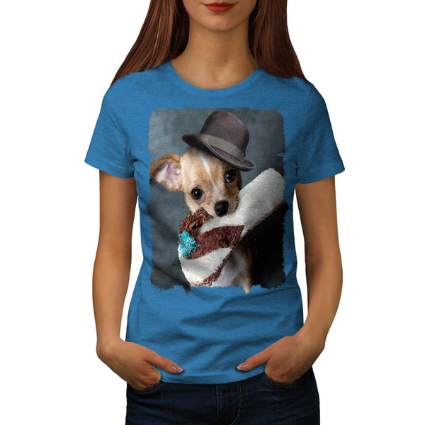 Puppy Slipper Fetch Womens T-Shirt