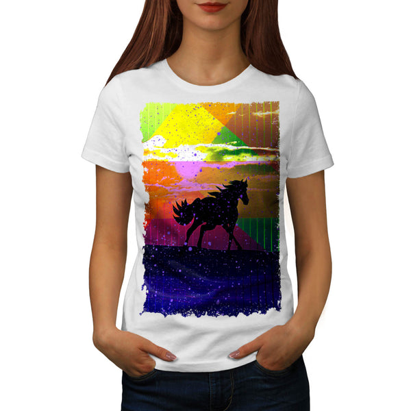 Colorful Horse Life Womens T-Shirt