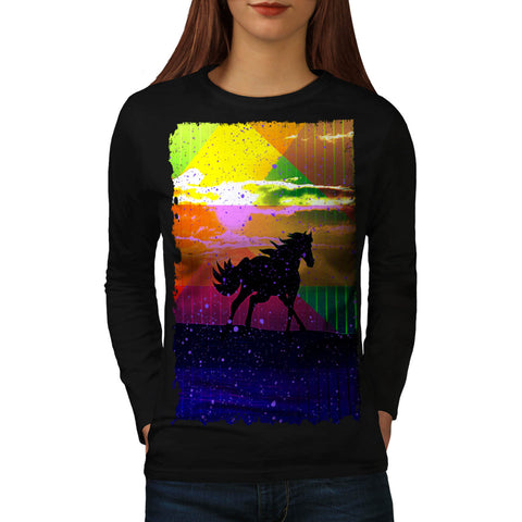 Colorful Horse Life Womens Long Sleeve T-Shirt