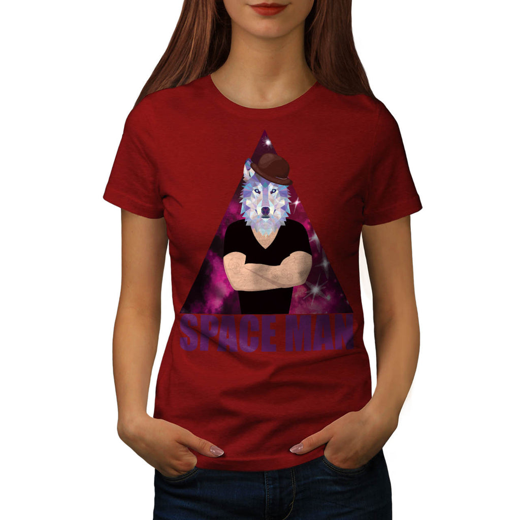 Hipster Tattoo Wolf Womens T-Shirt