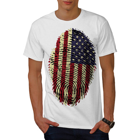 American Fingerprint Mens T-Shirt