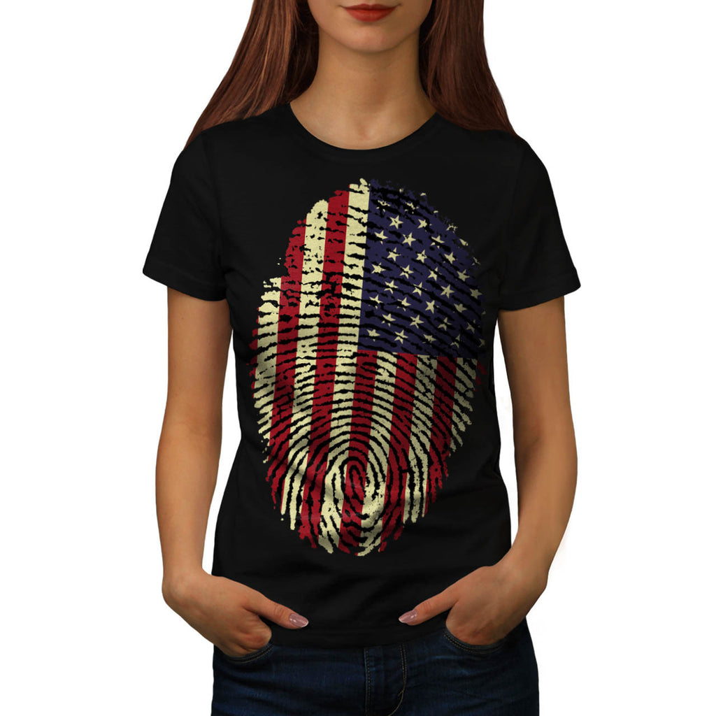American Fingerprint Womens T-Shirt