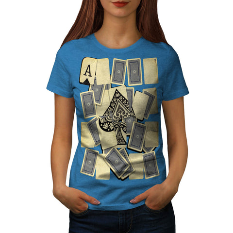Card Game Play Fun Womens T-Shirt