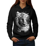 White Tiger Head Womens Hoodie