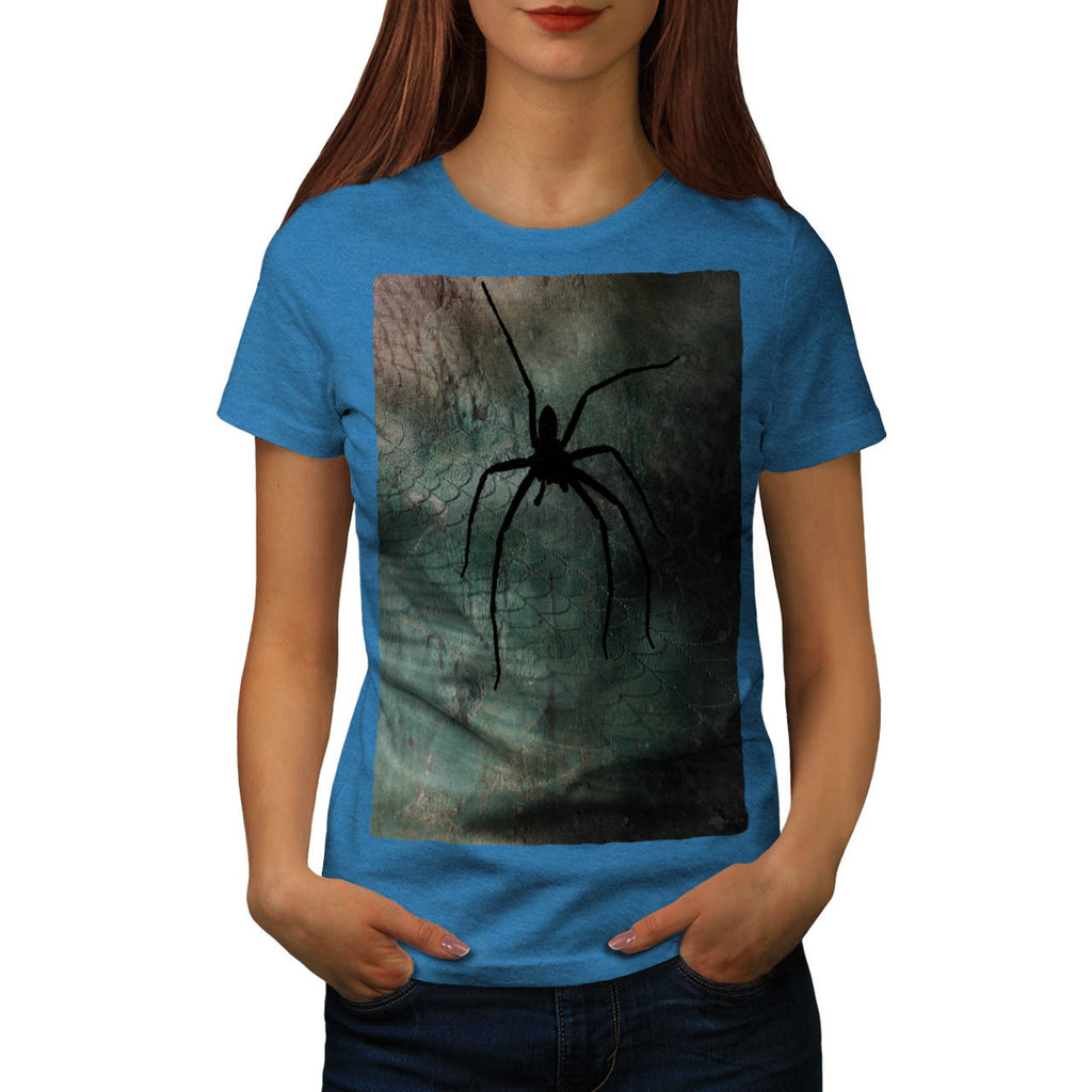 Scary Spider Web Art Womens T-Shirt